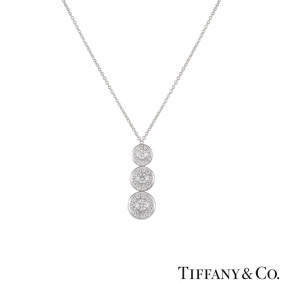 Tiffany & Co. Platinum Diamond Drop Circlet Pendant